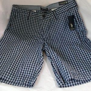 U.S. Polo ASSN NWT Shorts Flat Front Blue White 36